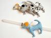 Pen - Πασχαλινή λαμπάδα με χειροποίητη φιγούρα σκυλάκι